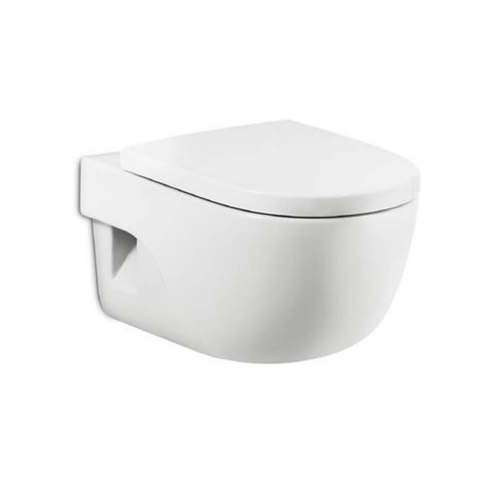 Roca Meridian-N Wall Hung Toilet - Soft Close Seat - White